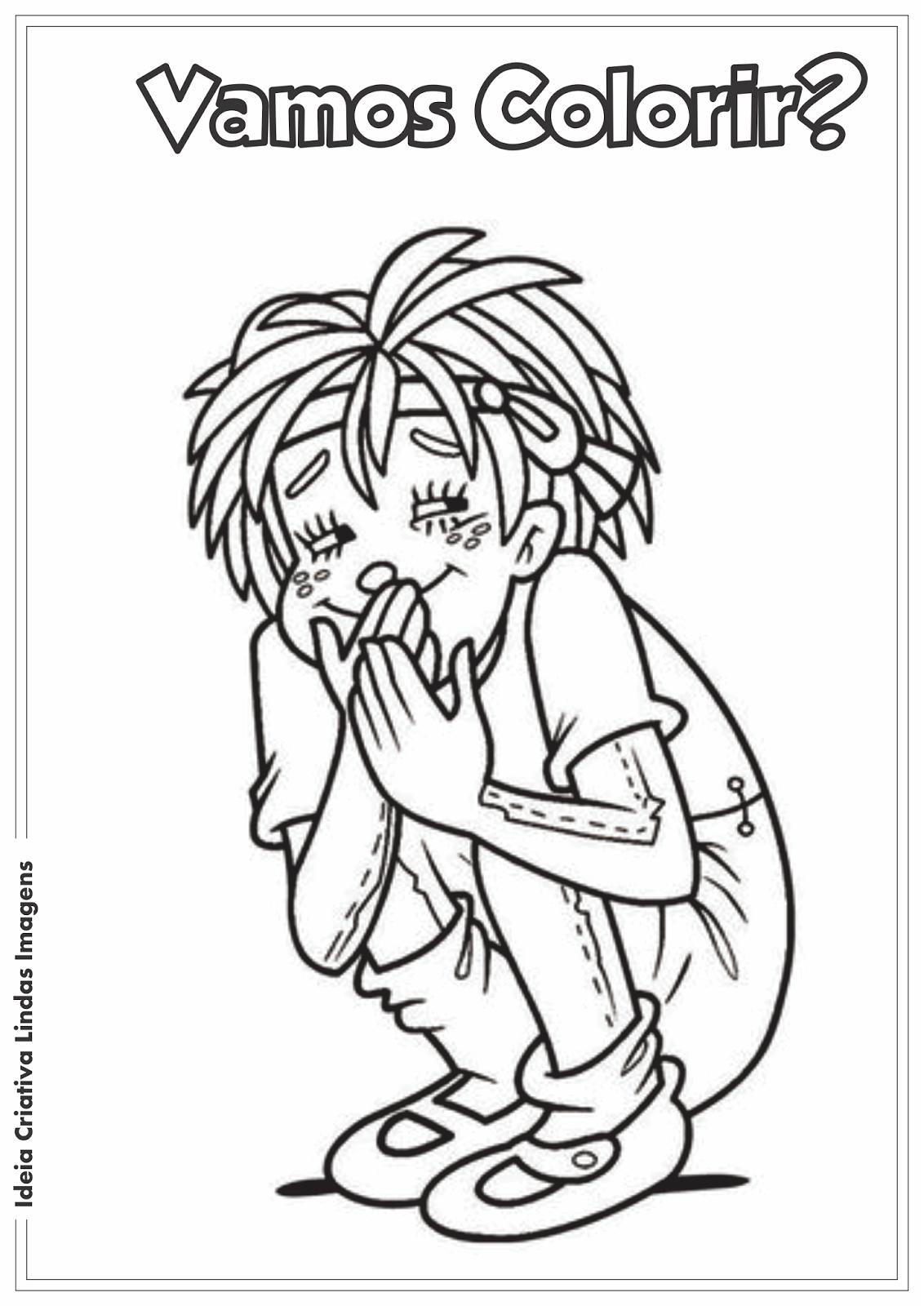Dia de Monteiro Lobato - Sítio do Picapau Amarelo - Emília desenho para colorir