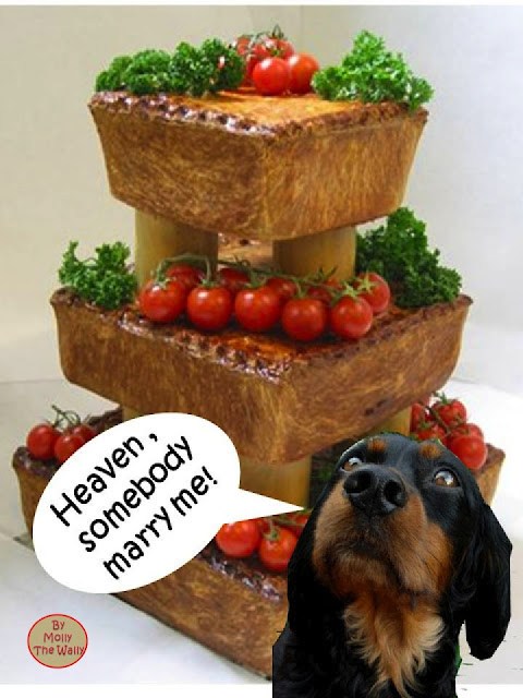 Molly The Wally & The Pork Pie Wedding Cake.