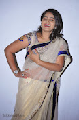 Actress Tanusha Photos in Saree at Present Love Audio-thumbnail-13