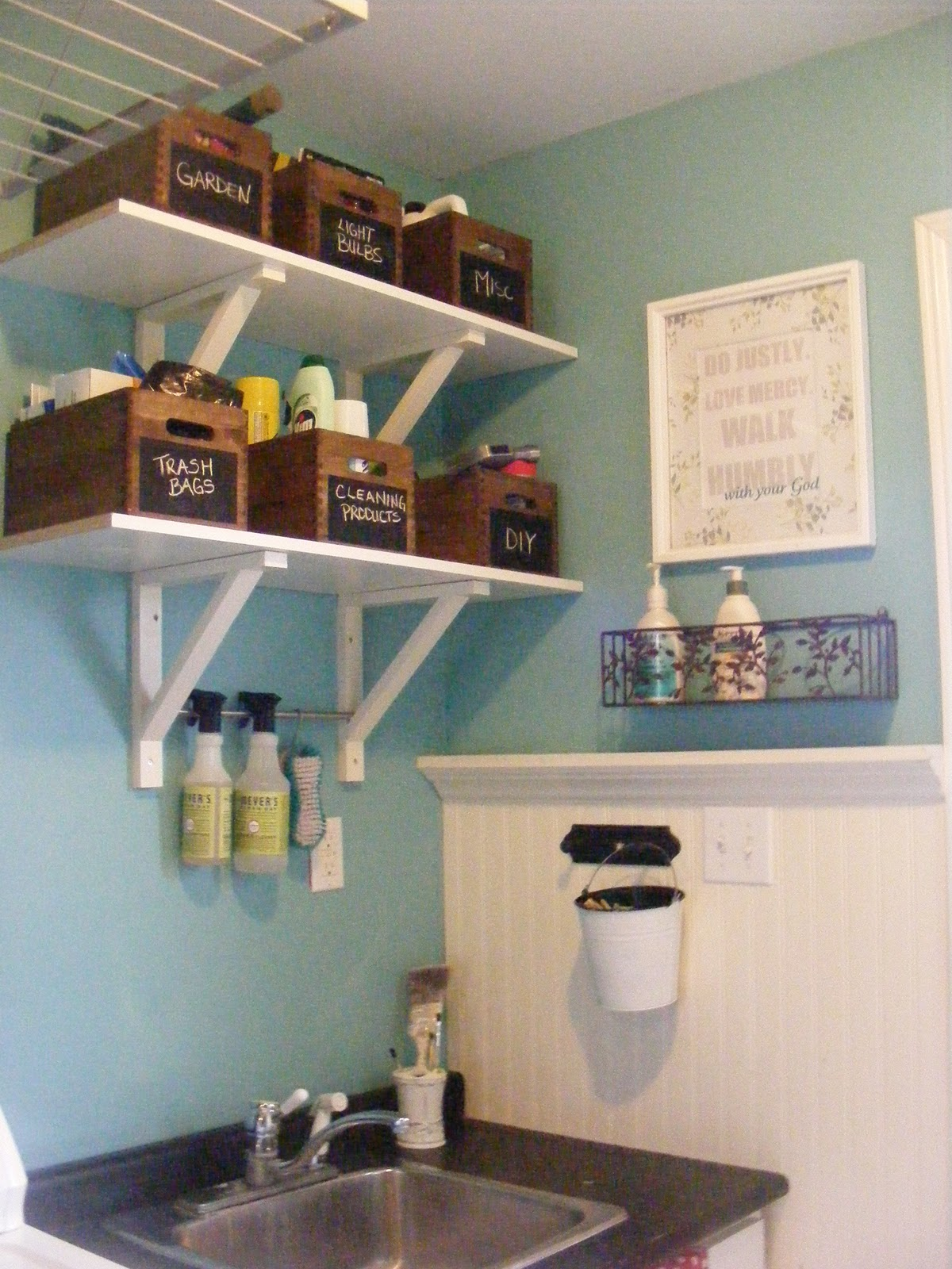 Organizedhome day 28 laundry room organization the for Room organization