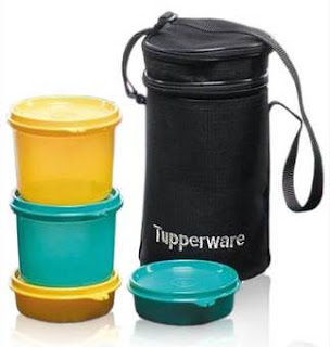 Tupperware Executive 4 Piece Lunch Box Set With Insulated Bag