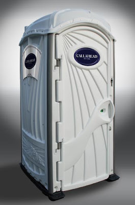 awhite toilet from callahead is the portable toilet for you