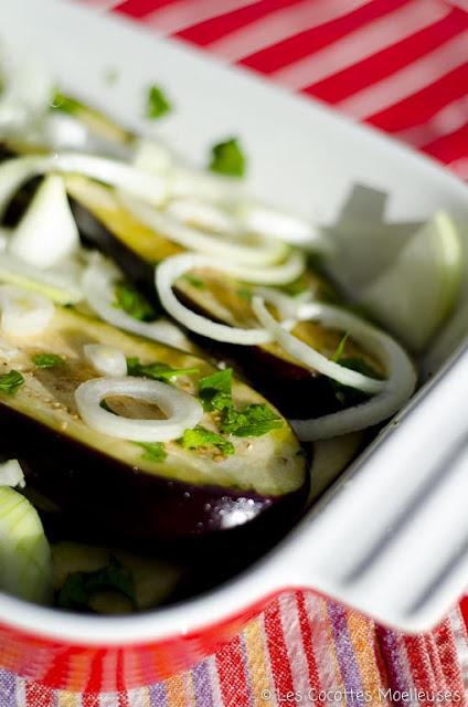 recette aubergines crues