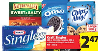 image Foodland Deals :Kraft Cheese Slices,Nature Valley Bars,Christie Cookies