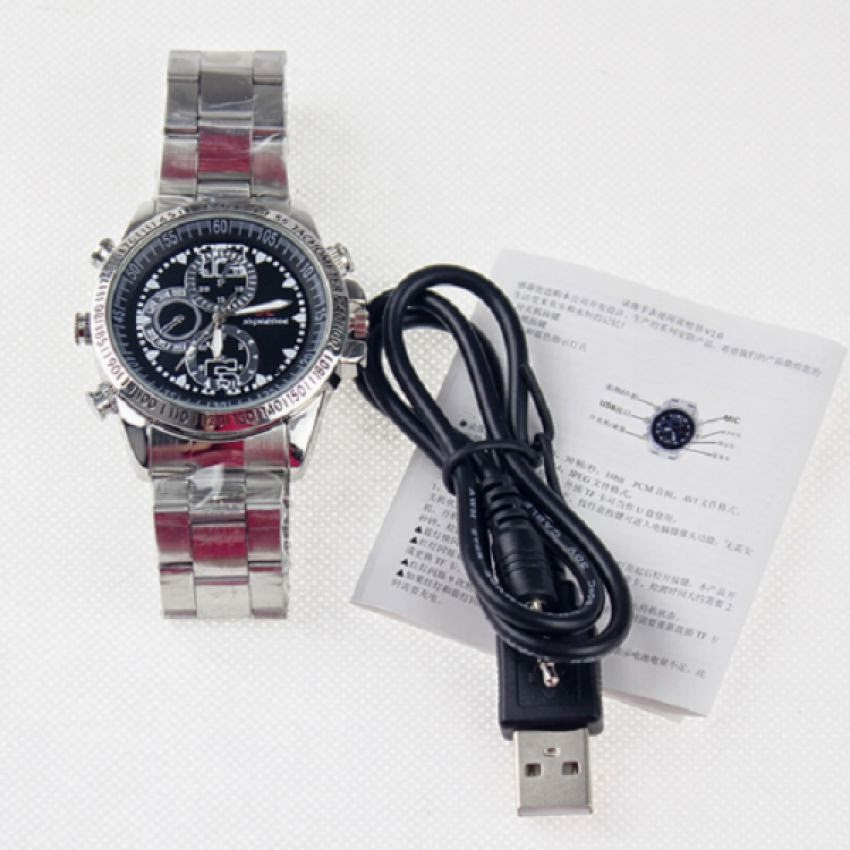 Xtreme Spy Cam Jam Tangan 4GB Classic - Silver (Camera Watch)