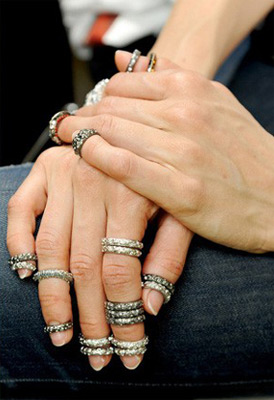 anéis multiple rings Chanel