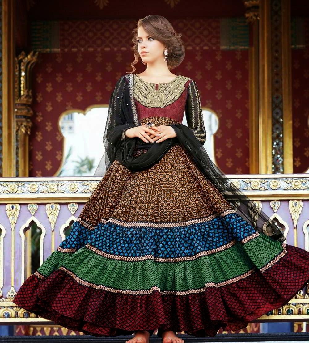 d7b87e860b1c مدونه ازياء 2  New Arrival Kalidar Suits For women 2014