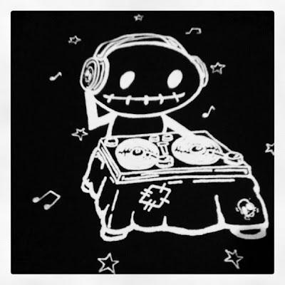 Zombie DJ Rocky The Zombie print