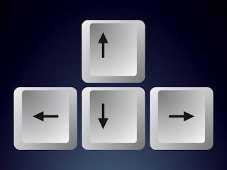 Botões do teclado com setas