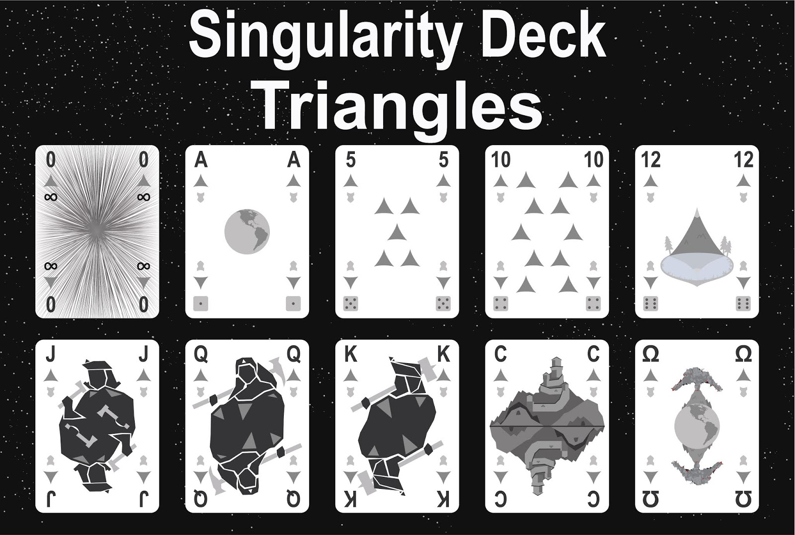 The Singularity Deck - Triangles Art
