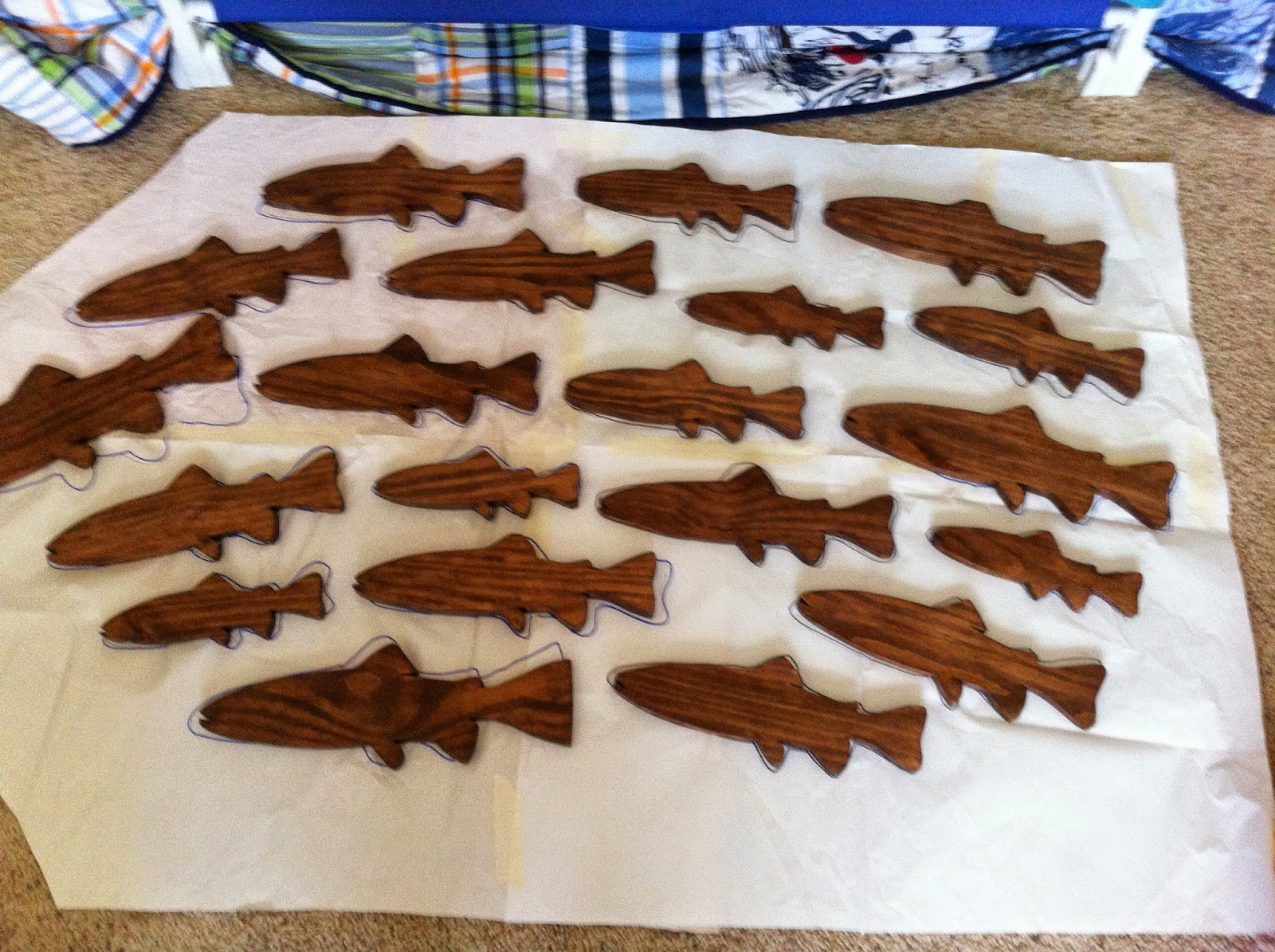 School of Fish - Stained Wood (Template)