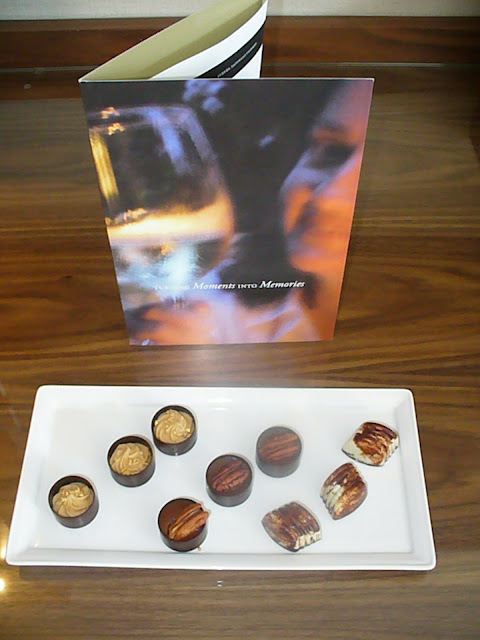 Fairmont Pacific Rim platinum amenity chocolate