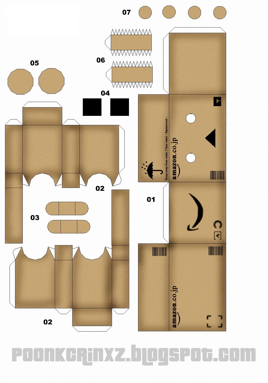 langkah-langkah membuat boneka kotak doraemon/danbo: