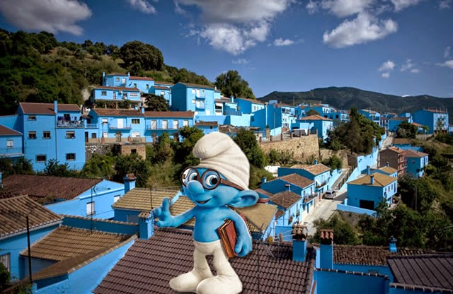 Júzcar (Smurf town) - Málaga, Andalucía, España