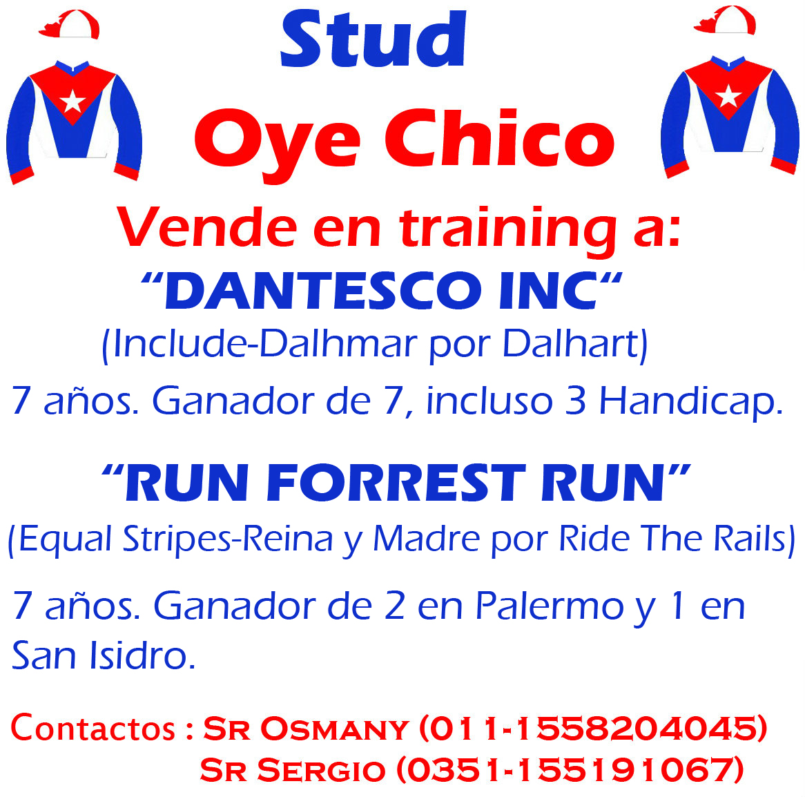 OYE CHICO TRAINING