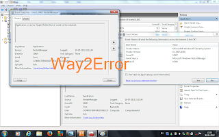 restart manager event 10007 windows 7
