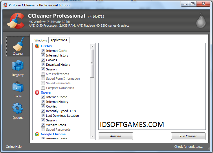 Screenshot CCleaner Professional