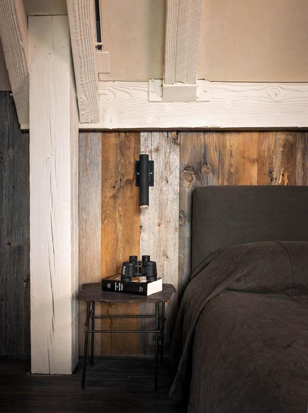 dormitorio rustico minimalista paleta neutra