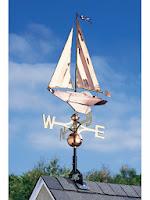 Nautical Sailboat Weathervane