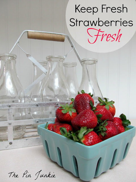 how to keep cut strawberries fresh