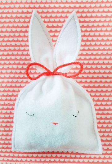 Felt Bunny Pouch on Mer Mag