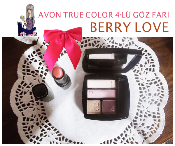 Berry Love- Avon True Color 4'lü Göz Farı