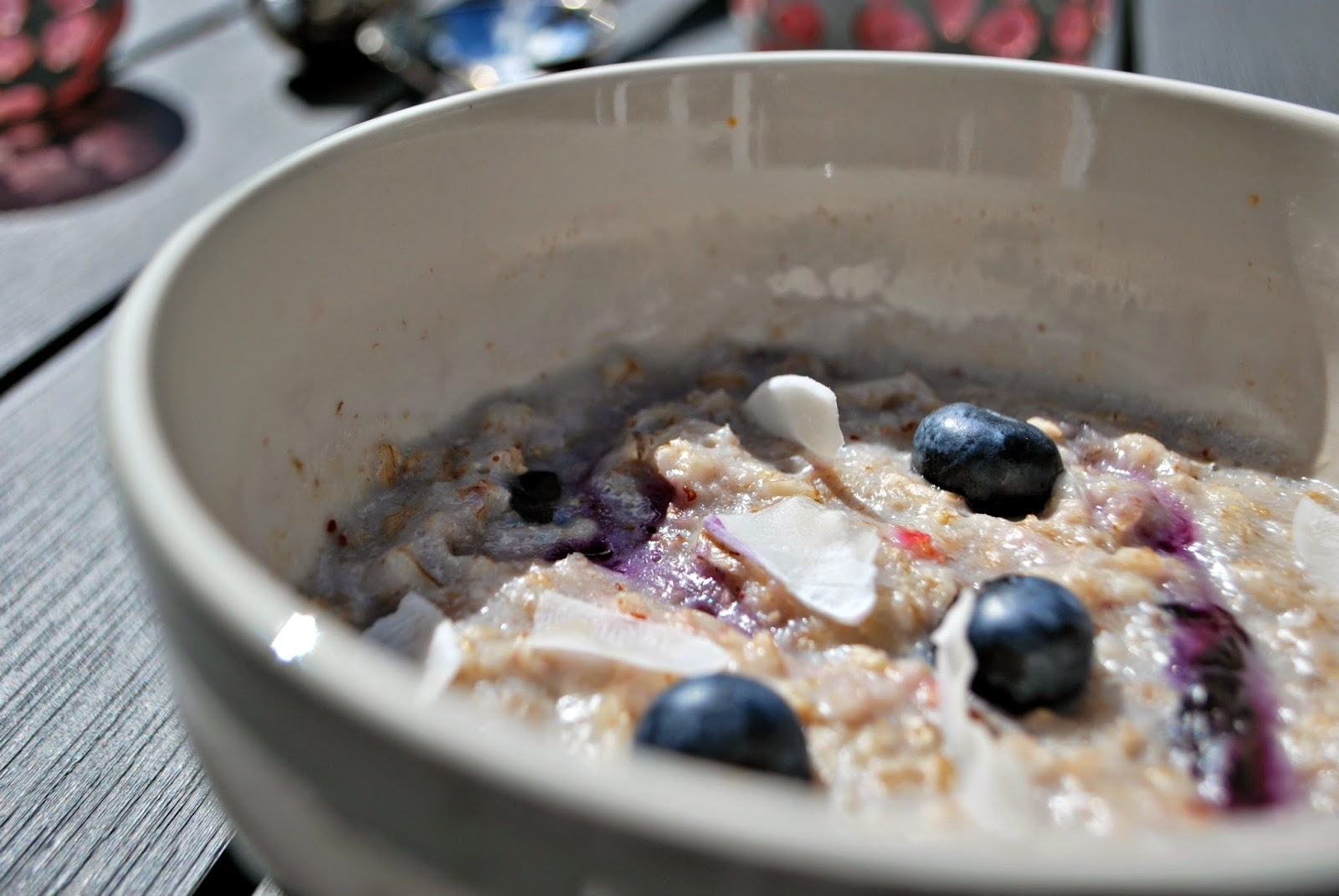 Bowl of Blueberry Coconut Porridge