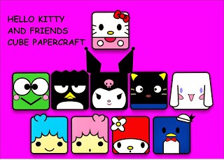 Hello Kitty and Friends Papercraft Toys