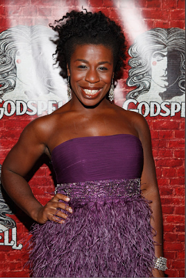 Uzo Aduba at the premier of Godspell