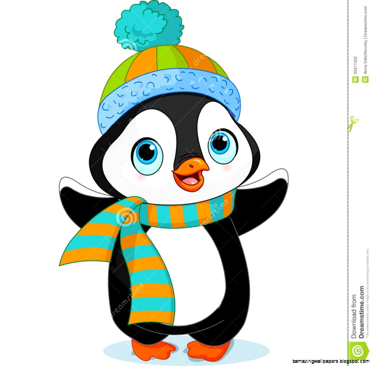 Winter Penguin Black And White Clipart   Clipart Kid