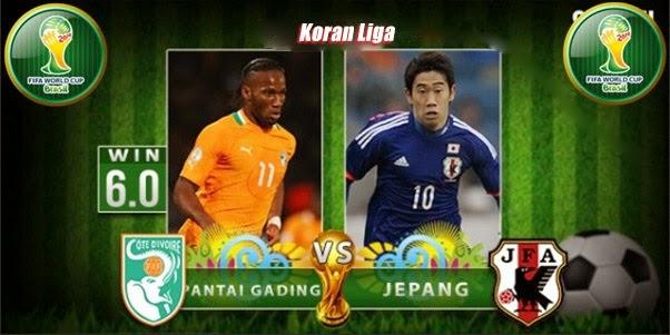 Prediksi Skor Pantai Gading vs Jepang 15 Juni 2014