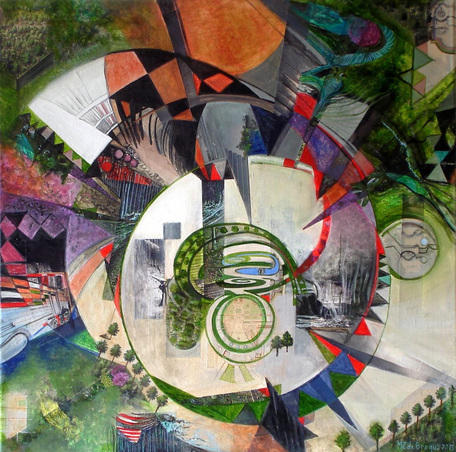 Promenade dans un jardin - 50 x 50 cm - 2013