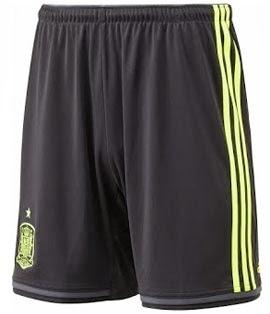 pantalón corto selección española 2014 segunda equipación negro