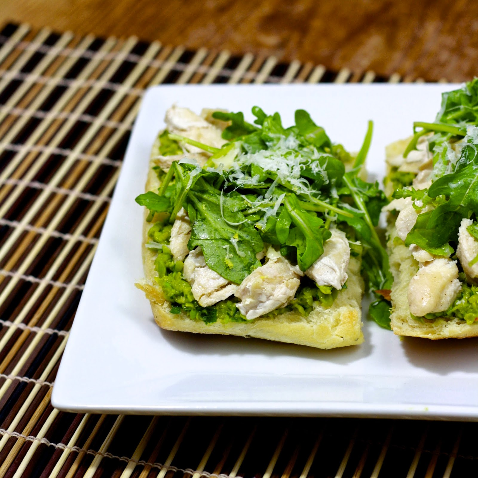 open-faced chicken sandwiches