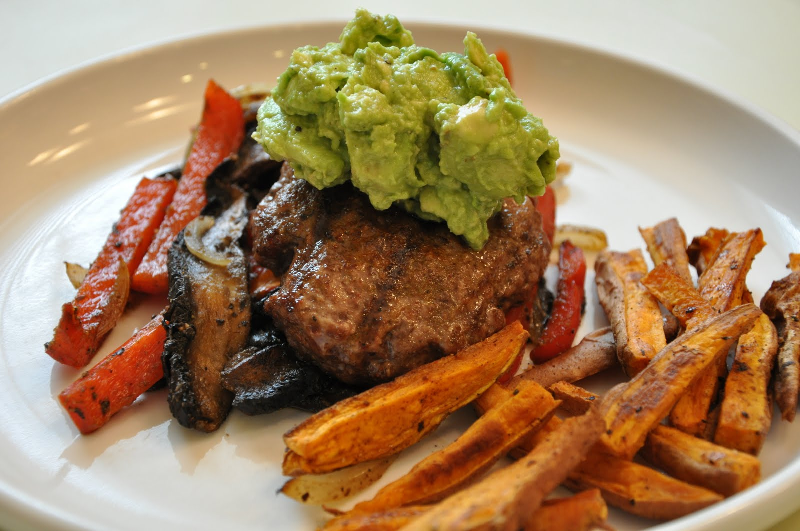 Fajita Burgers with Chili Cumin Fries