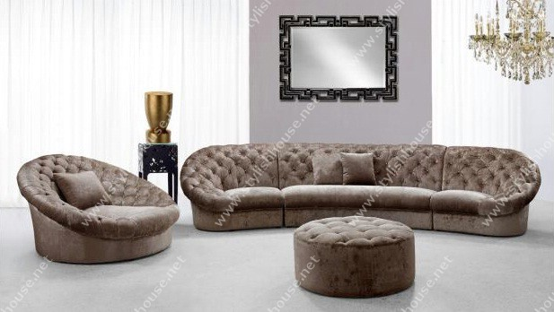 Cosmopolitan Beige Mini Sectional Sofa furniture Set