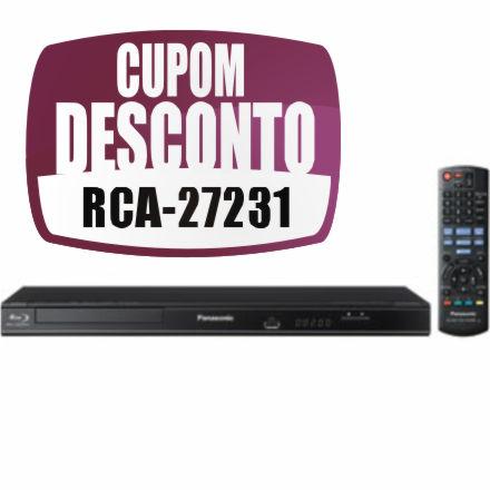 Cupom Efácil - Blu-ray Full HD Panasonic DMP-BD75LB-K