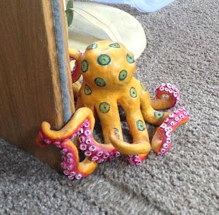 Blue fish studios blog octopus doorstop for Fish door stop