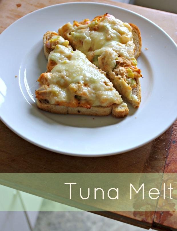 easy open faced tuna melt, tun melt and open faced tuna melt, open-faced tuna melt
