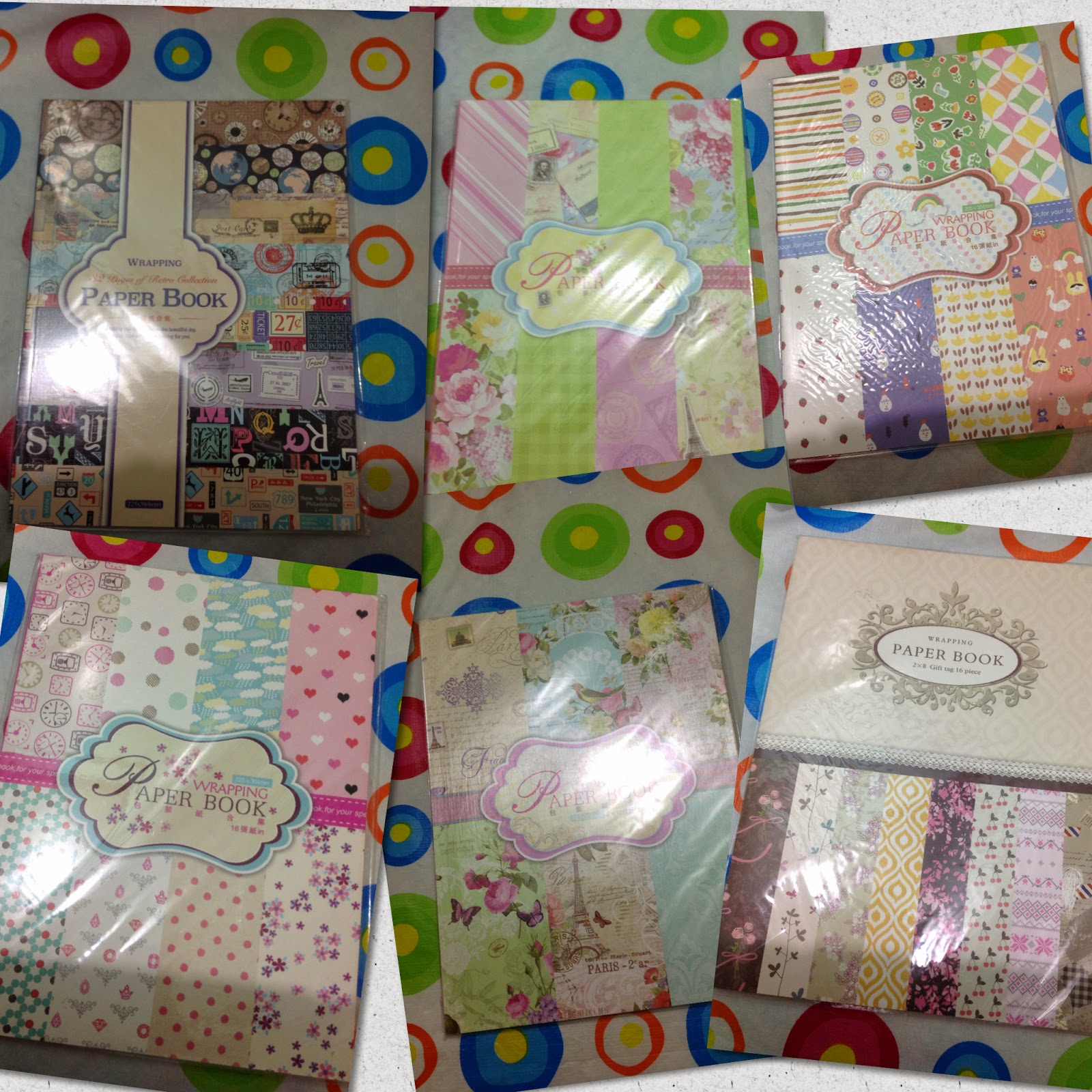 Scrapbook paper books - Wrapping Paper Books My Heart Jumped When I Saw These Right Now I Have A Lot Of Projects In My Mind That I Want To Make Using These Beauties