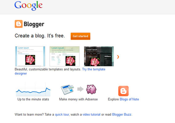 blogger,free blogging websites list,blogspot,google