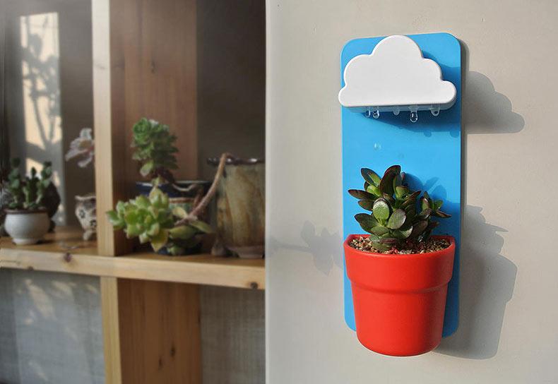 Rainy Pot: Esta linda nube mantendrá tus plantas vivas