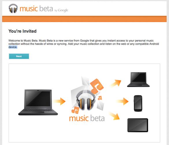 invitation google music