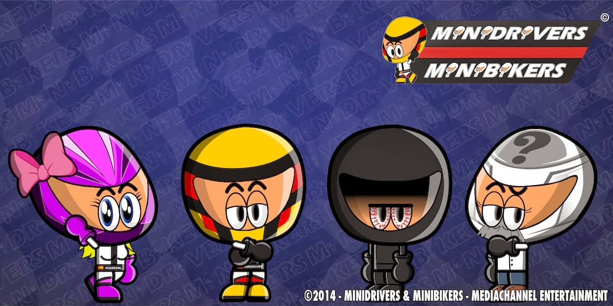 From left to right: MiniGirl, MiniDriver, Dark Mini and MiniProf