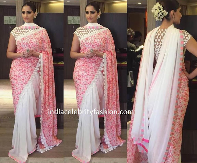 Sonam Kapoor in Abu Sandeep Saree