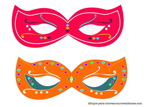 Dibujos para Colorear: Originales y bonitas máscaras de carnaval ...