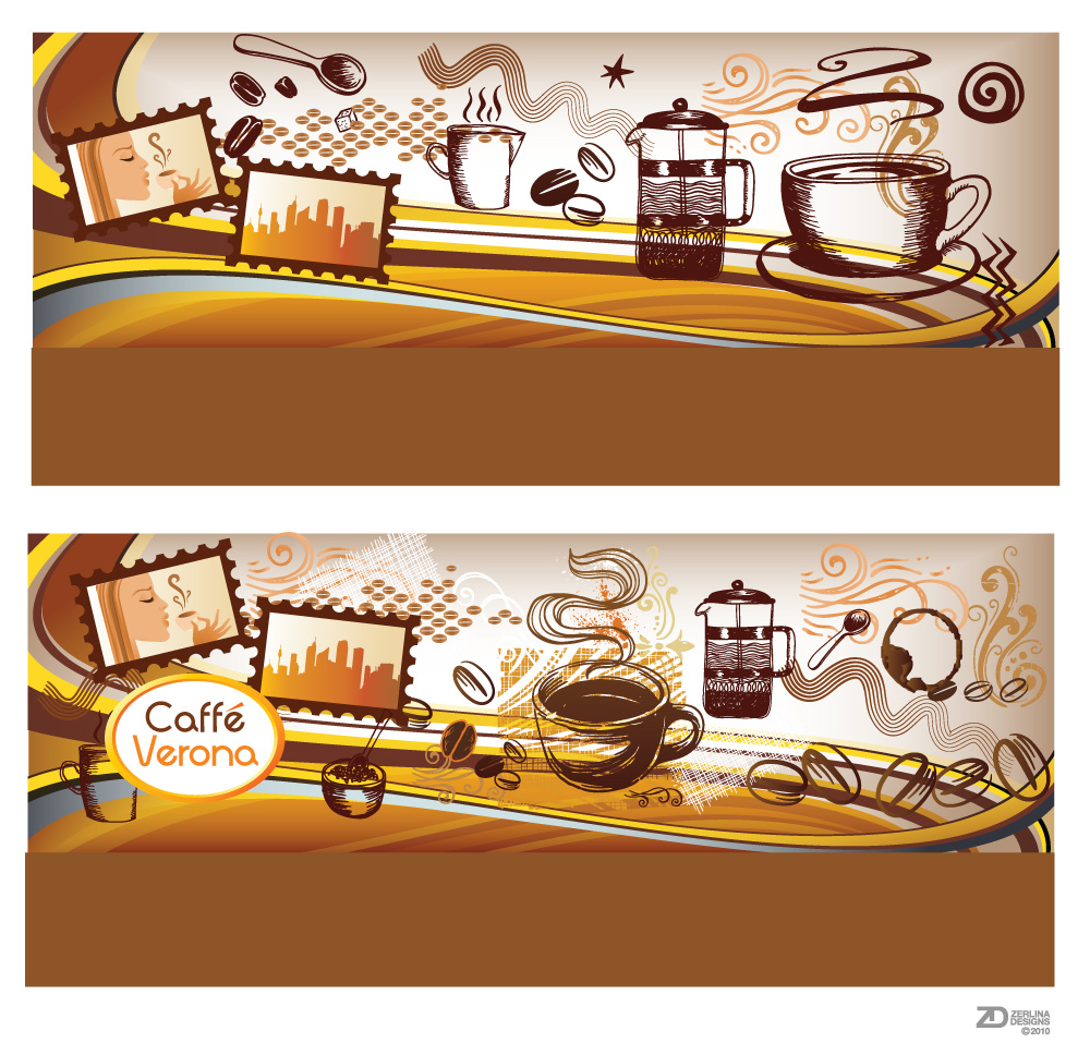 Wall Design In Cafe : Zerlina designs cafe verona packaging wall design