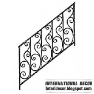 iron stair railing design Iron stairs railings designs   Iron staircase railings designs