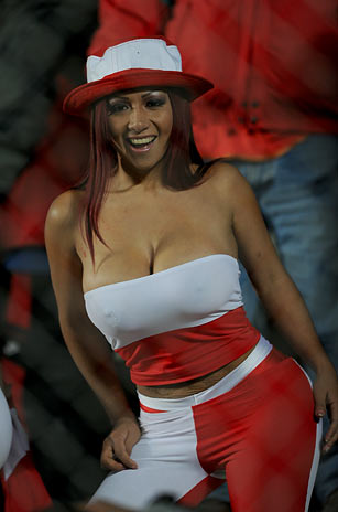 Paraguay fans at the Copa America Peru+Sexy+Girl+Copa+America+2011