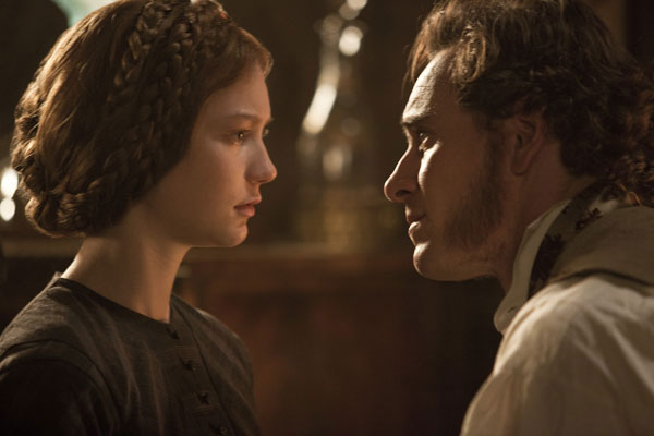 jane eyre mia wasikowska and michael fassbender